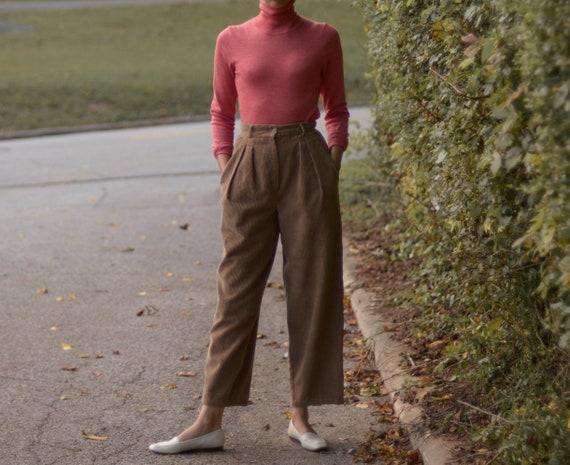70s cotton high waist and pleated wide leg elephan