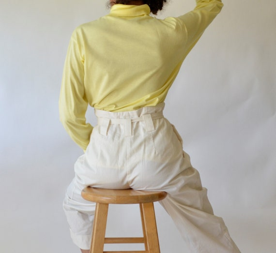 Incredible 60S Cotton Lisle Light Yellow Turtleneck Tagged Size L Made In Usa Bralicious Painted Fabric Chair Ideas Braliciousco