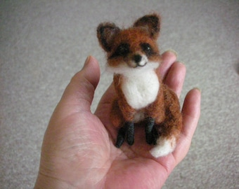 Hand Made Needle Felted Little Fox