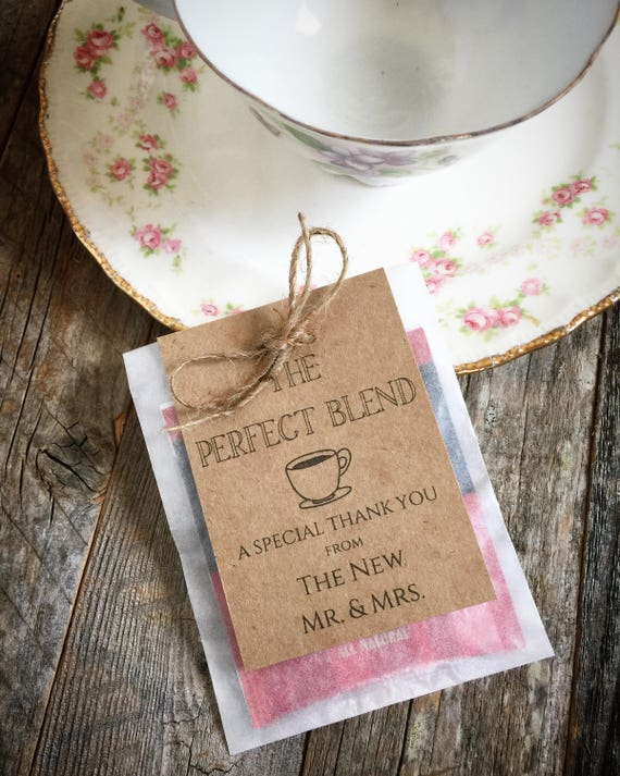 SALE Tea Bag Favors Wedding Favor Vintage Style Tea Perfect | Etsy