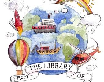 Illustrated Children's Bookplates