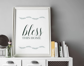 Print | Bless This Home w/ Vine