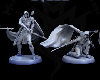 Argent Conscript, Warforged Ranger, Wargorged Bow and Arrow, Tabletop D&D RPG, Mini Monster Mayhem, The Souls within Steel, Set of 4