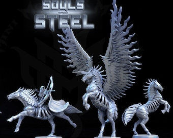 Iron Stallion, Metal Horse Rider, Tabletop D&D RPG, Mini Monster Mayhem, The Souls within Steel