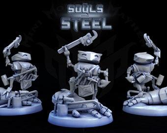 The Builder, Warforged Artificer, Tabletop D&D RPG, Mini Monster Mayhem, The Souls within Steel