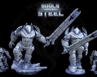 Steel Titan, Huge Metal Construct,  Steel Contruct, Tabletop D&D RPG, Mini Monster Mayhem, The Souls within Steel