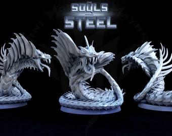 Galvanized Serpent,  Huge Iron Serpent, Huge Metal Serpent, Tabletop D&D RPG, Mini Monster Mayhem, The Souls within Steel