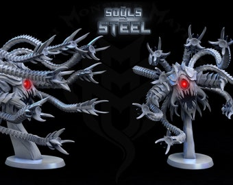 Sentinel Horror, Metal Horror Tentacles, Metal Beholder, Tabletop D&D RPG, Mini Monster Mayhem, The Souls within Steel