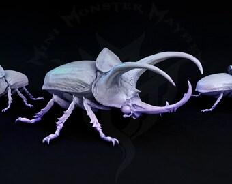 Giant Beetle, Giant Insect, Tabletop D&D RPG, Mini Monster Mayhem, Infestation