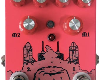effect pedal PLANET PUDDING double delay unit.  Effect pedal delay analog delay.