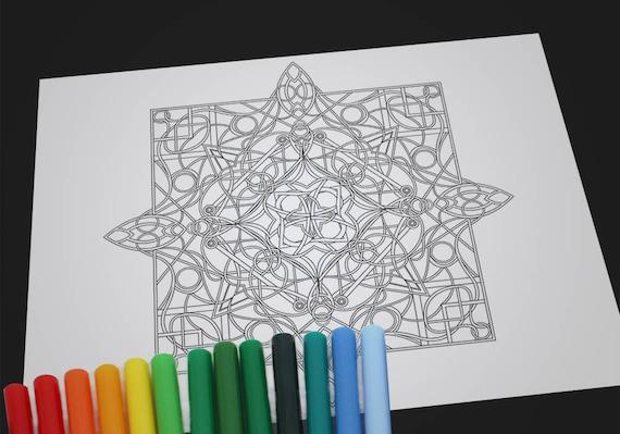 Adultos para colorear Hoja de colorear Imprimibles para   Etsy