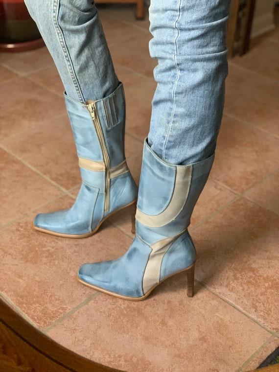 Vintage Square Toe Boots
