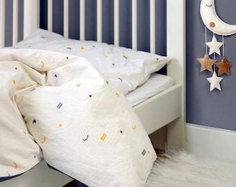 Toddler Duvet Cover and Pillowcase, Organic Cotton Bedding for Kids, Toddler Bedding Set, Boys Duvet Cover, Girls Duvet Cover, Eco-friendly