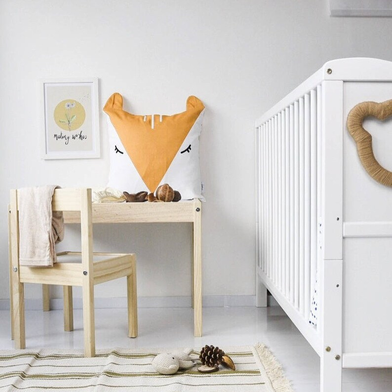 Organic Cotton Fox Double Sided Cushion Cover 18 x image 0