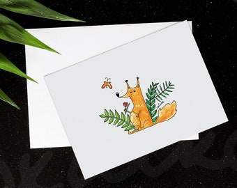 Funny Foxy Postcard. New baby postcard. Welcome postcard. Holiday postcard. Greetings cards