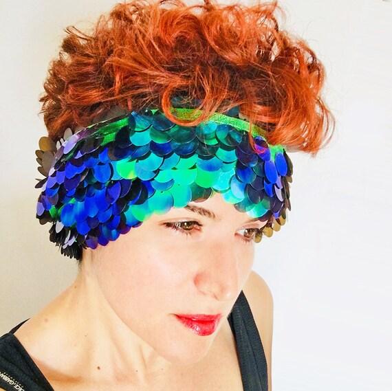 Green Mermaid Scarf - Millie Bobby Brown Coachella Scarf - Hologram Clothing - Bohemian Scarf - Women Scarf - Festival Wrap - Gift For Her
