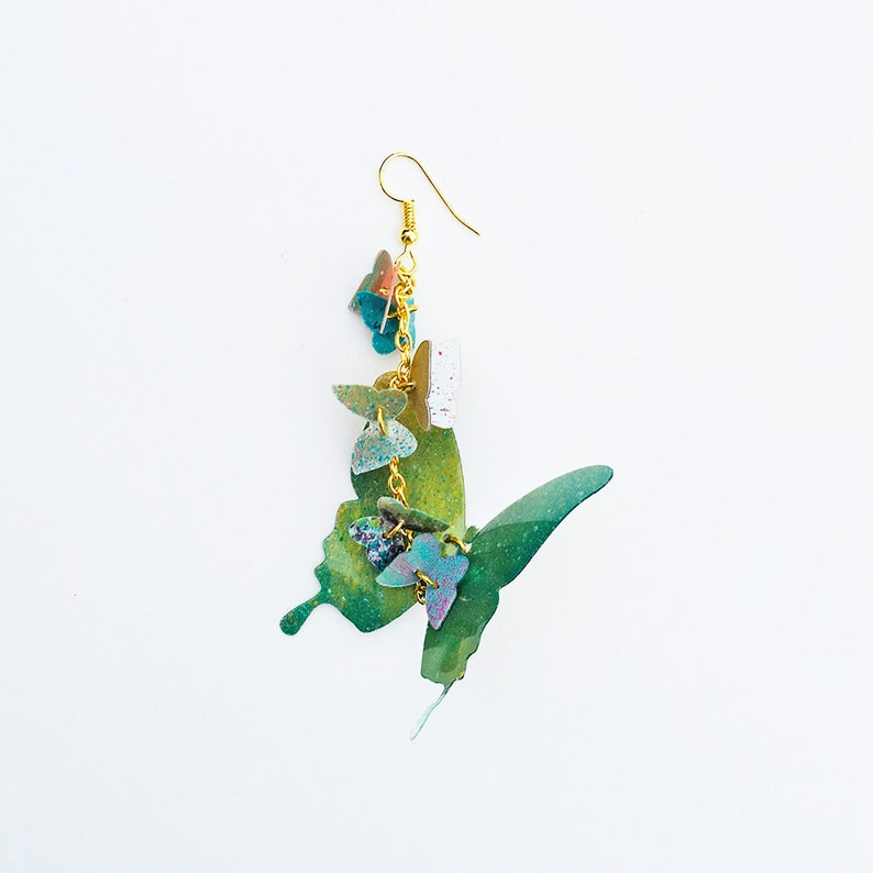 1cec55562991 Pendiente mariposas Pendiente mariposas coloridas Joyas
