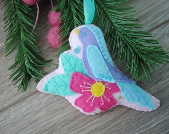 PDF Felt bird pattern, felt Christmas pattern, Felt ornaments Pattern, Christmas ornaments, Toy Pattern, Sewing bird Pattern,
