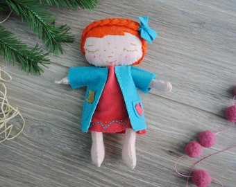 PDF Doll Pattern, Felt Doll, Felt Pattern, Toy Pattern, Rag Doll Pattern, Sewing Doll Pattern, Instant Download