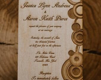 rustic romance invitation 12 wooden invitations 2 50 each etsy