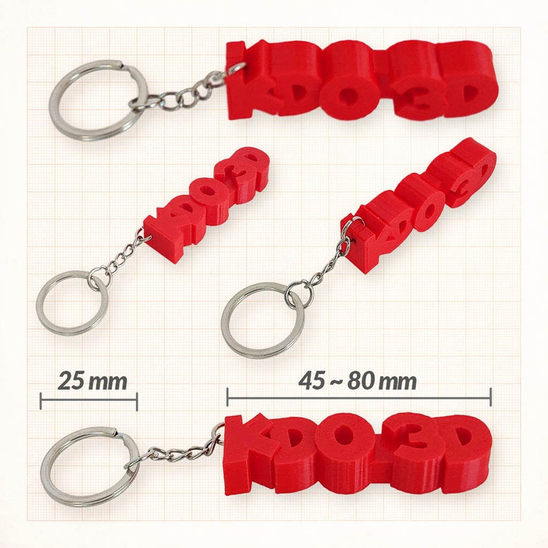 a date an original gift idea Personalised key holder set to the unit a text KDO 3D a first name