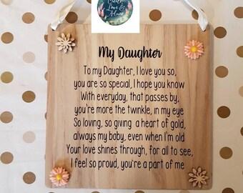 c262ffb16b6 Daughter Gift Ideas Daughter keepsake Poem for Daughter Special Daughter  Daughter Sign Father Daughter Gift Wedding Daughter Daughter Quote