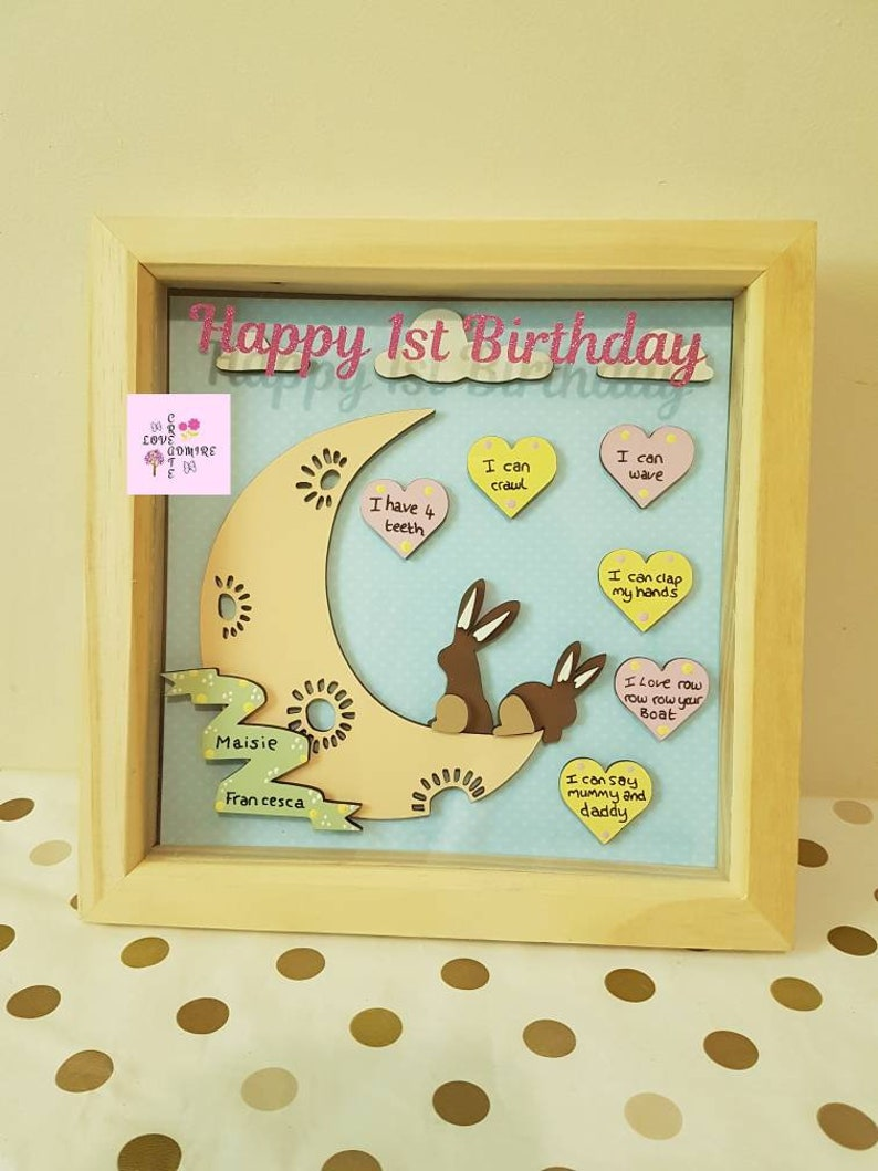 1st Birthday Keepsake Daughter Baby Gift