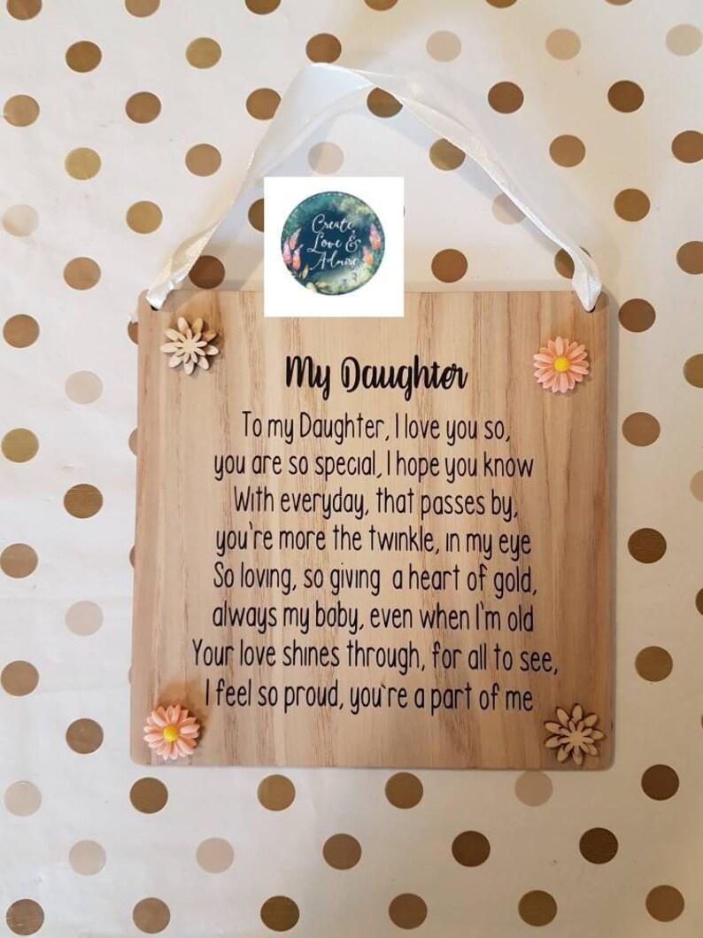 f1b86423dc3 Daughter Gift Ideas Daughter keepsake Poem for Daughter