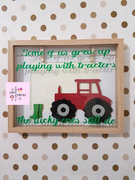 Tractor Frame Birthday Gift For Dad Uncle
