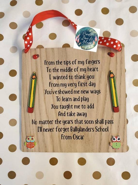 Teacher Appreciation Gift / Nursery Teacher Gift / Thank you Teacher /  Preschool Teacher Gifts / Teacher Assistant Gifts / Prek Teacher Gift
