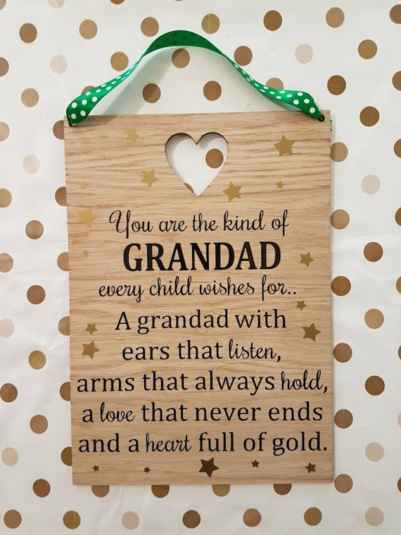 Funny Plaque Nanny Mum Grandad Dad Gift Present Gift Father/'s Day Any Relation