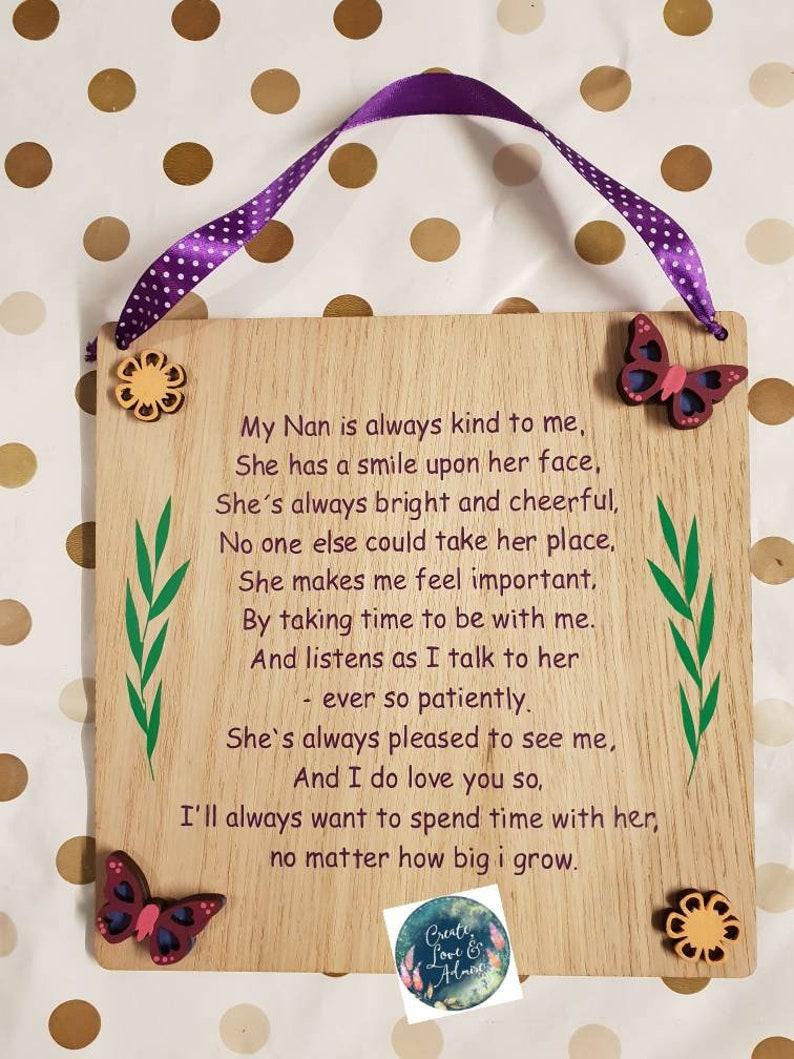 Gift For Nan Nanny Idea Personalized Nanna