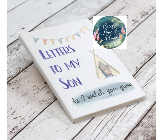 Letters to My Son Daughter Keepsake Book Baby Journal Memory Book Mother  and Son Christening Keepsake Memories for Son Daughter Baptism Gift