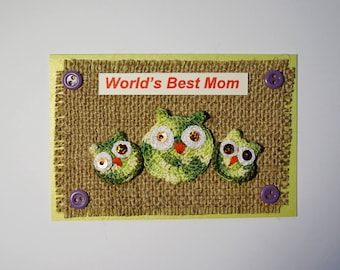 Mothers Day card Mom birthday gift for mum Funny greeting card Owl card Happy mothers day Best mom card Mother in law card Mom to be card