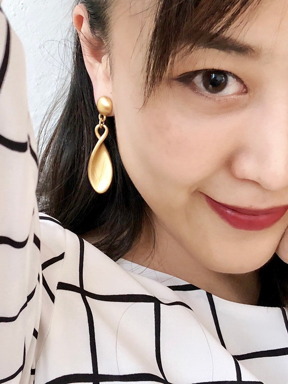 Vintage Gold Drop Earrings | Ralph Lauren Gold Dro