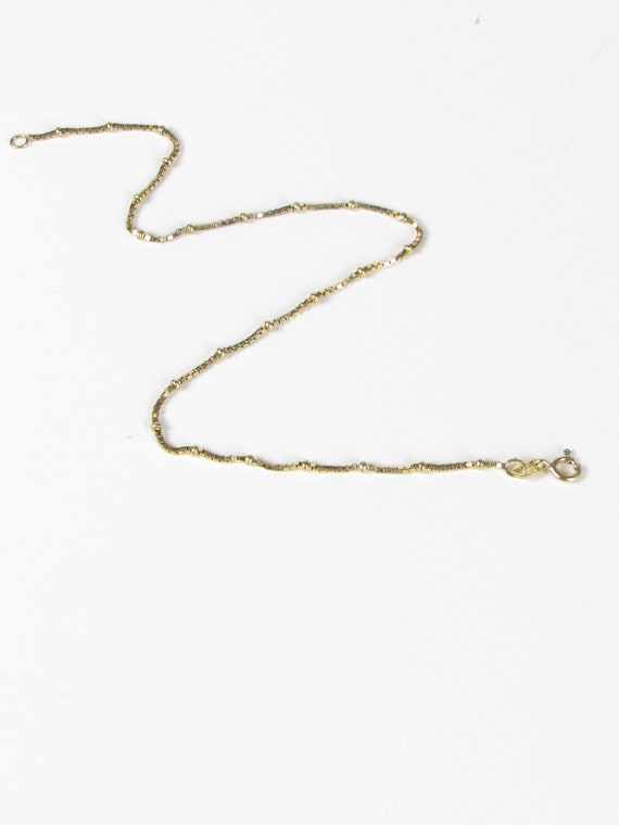 Dainty Thin Gold Vermeil Anklet, Vintage Gold Ankl