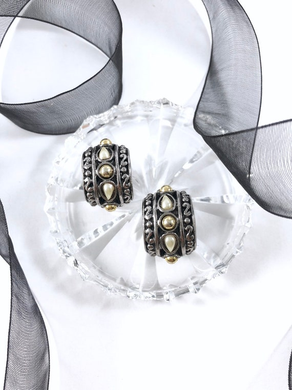 Vintage Statement Hoop Earrings | Vintage Slivers