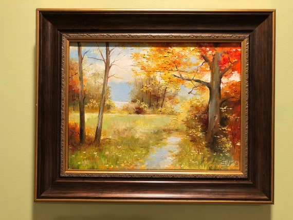 Fall Trees Original Oil Painting Landscape