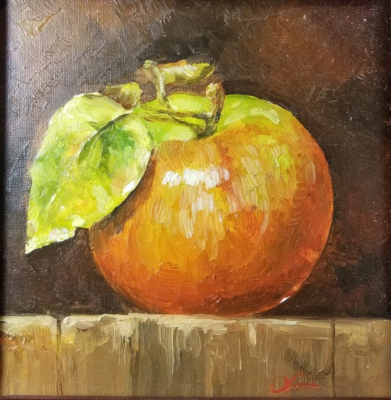 Apple Kitchen Still Life Fruit Original Oil Painting
