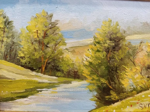 Original, Art, Oil Painting, Landscape, Wall Decor
