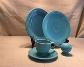 Including a Rare Large Teapot - Vintage Fiesta Ware Turquoise