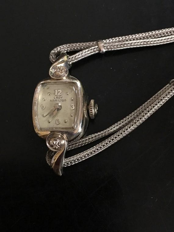 Ladies Hamilton Watch - White Gold and Diamond Lad