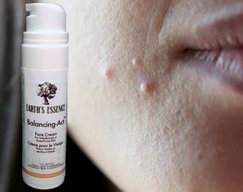 Acne Skincare, Acne Cream Treatment Remedy, Diminish Acne Scare, Balancing-Act; #NaturalSkincare by Earth's Essence Organic Skin Care