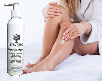 Natural Body lotion for Dry Skin, Nourish-Meant by Earth's Essence Organic Skin Care