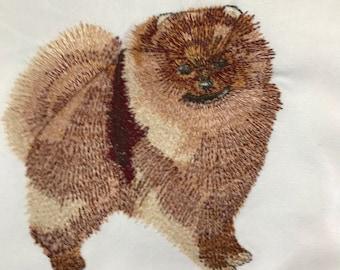 Pomeranian Tea Towel