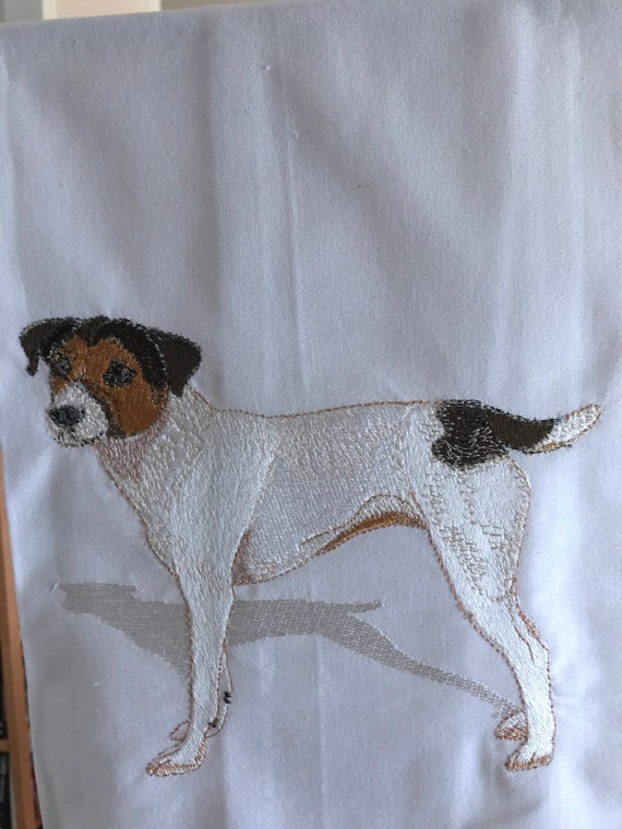 JACK RUSSELL TERRIER  DOG COTTON KITCHEN DISH TOWEL