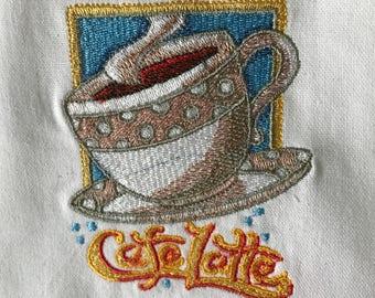 Cafe Latte Tea Towel