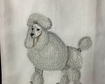 French Poodle Tea Towel