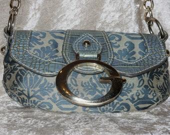 1a055bf189 Guess authentique sac G Logo petit sac à main de mode Chic Teal Blue Gold  sac à main Unique spécial Saint-Valentin anniversaire cadeau d'anniversaire  pour ...