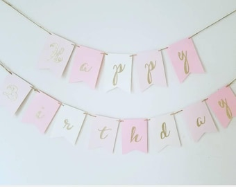 girl birthday banner etsy